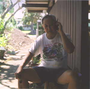 Dad on the phone