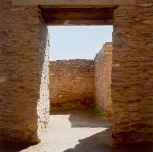 A doorway at the Salinas Pueblos Mission National Park